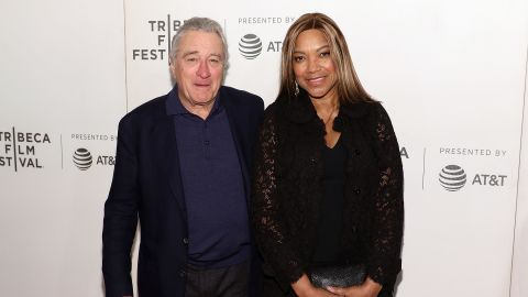 """NEW YORK, NY - APRIL 28:  Robert De Niro and Grace Hightower attend the premiere of """"The Fourth Estate"""" during the 2018 Tribeca Film Festival at Borough of Manhattan Community College on April 28, 2018 in New York City.  (Photo by Taylor Hill/FilmMagic)"""