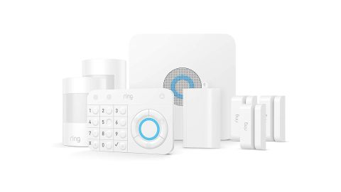 """<strong>Ring Alarm Home Security System with optional 24/7 Professional Monitoring (5-piece kit) ($199; </strong><a href=""""https://amzn.to/2SIQKA9"""" target=""""_blank"""" target=""""_blank""""><strong>amazon.com</strong></a><strong>)</strong>"""