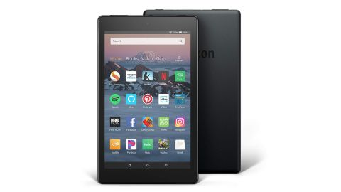 """<strong>Amazon Fire 7 Tablet with Alexa, 7"""" Display, 8 GB, Black ($49.99; </strong><a href=""""https://amzn.to/2Lbxdpt"""" target=""""_blank"""" target=""""_blank""""><strong>amazon.com</strong></a><strong>)</strong>"""
