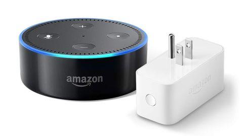 "<strong>Echo Dot bundle with Amazon Smart Plug ($24.99, originally $64.98; </strong><a href=""https://amzn.to/2Buk1cd"" target=""_blank"" target=""_blank""><strong>amazon.com</strong></a><strong>)</strong>"