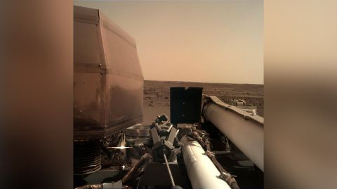 InSight took this image not long after landing.