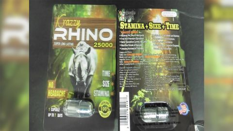 The FDA is warning people not to purchase or use supplements marketed under the name Rhino.