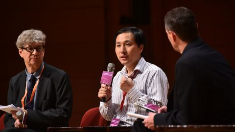 Chinese scientist He Jiankui at the Second International Summit on Human Genome Editing in Hong Kong on November 28, 2018.