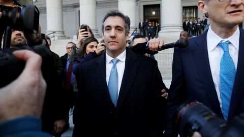 U.S. President Donald Trump's former lawyer Michael Cohen exits Federal Court after entering a guilty plea in Manhattan, New York City, U.S., November 29, 2018. REUTERS/Andrew Kelly