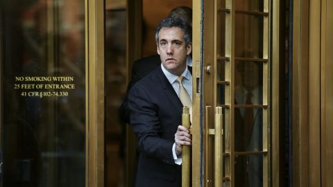 Michael Cohen, President Donald Trump's personal lawyer and longtime fixer, leaving federal court in New York, Aug. 21, 2018. Cohen pleaded guilty on Tuesday to campaign finance and other charges. The fate of Trump, the man who Cohen said directed him to break the law by making payments to a pornographic film actress and a former Playboy model, rests, in all likelihood, in the political arena and in the halls of Congress.  (Andres Kudacki/The New York Times)