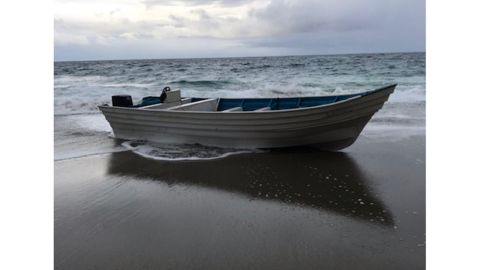Laguna Beach police arrested 9 undocumented migrants who came ashore in this panga boat on November 29, 2018.