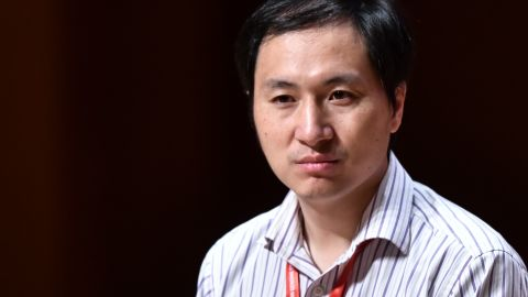 In this picture taken on November 28, 2018, Chinese scientist He Jiankui reacts during a panel discussion after his speech at the Second International Summit on Human Genome Editing in Hong Kong. - A scientist who upended a Hong Kong conference with his claim to have created the world's first genetically-edited babies cancelled a fresh talk and was heavily criticised by organisers on November 29, who labelled him as irresponsible. (Photo by Anthony WALLACE / AFP)        (Photo credit should read ANTHONY WALLACE/AFP/Getty Images)
