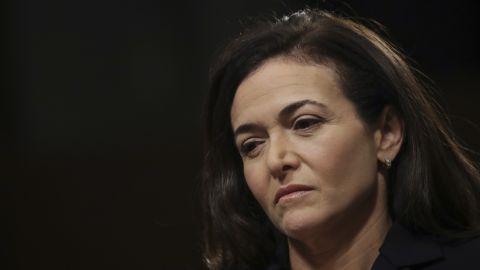 Facebook chief operating officer Sheryl Sandberg testifies during a Senate Intelligence Committee hearing on September 5, 2018.