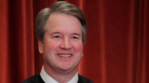 U.S. Supreme Court Associate Justice Brett M. Kavanaugh is seen during a group portrait session for the new full court at the Supreme Court in Washington, U.S., November 30, 2018. REUTERS/Jim Young