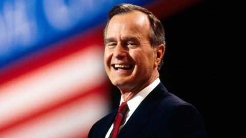 President George H.W. Bush attends the Republican National Convention in Houston in 1992. Bush dedicated his life to serving others and held many different roles in government, the highest being President.