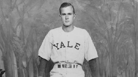 After the war, Bush attended Yale University and played baseball there from 1945 to 1948. He was team captain.