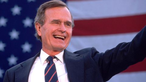 """<a href=""""https://www.cnn.com/2018/12/01/politics/george-h-w-bush-dead/index.html"""" target=""""_blank"""">George Herbert Walker Bush</a>, the 41st President of the United States and the patriarch of one of America's dominant political dynasties, died November 30 at the age of 94."""