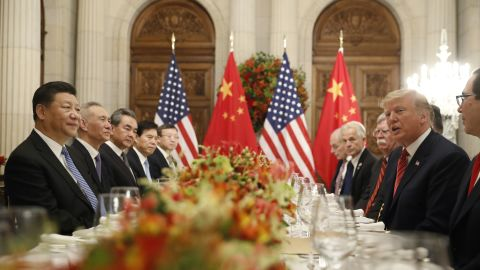 President Donald Trump with China's President Xi Jinping during their bilateral meeting, Saturday, Dec. 1, 2018 in Buenos Aires, Argentina. (AP Photo/Pablo Martinez Monsivais)