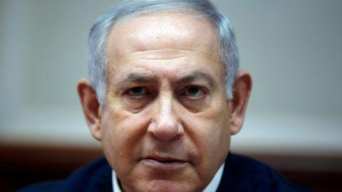 Israeli Prime Minister Benjamin Netanyahu at a Cabinet meeting in Jerusalem.