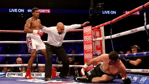 Joshua knocked out Emanuele Leo on his professional debut.
