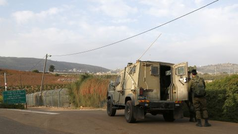 Israeli soldiers near the border with Lebanon on Tuesday.