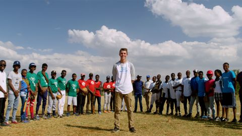"""Max Bobholz, 18, started <a href=""""http://angelsatbat.yolasite.com/"""" target=""""_blank"""" target=""""_blank"""">Angels at Bat</a>, a nonprofit that collects and delivers baseball equipment for children in Kenya. A light bulb went off as he watched a Ugandan team play in the 2012 Little League World Series: """"[T]hey had stories of where the teams came from. And not everybody had enough balls to play and no uniforms, no hats, no shoes,"""" Max says. """"I know I had that in my garage. I knew all my friends had it in their garage. And I thought why don't we gather that together and send it to the kids in Africa so they can play."""""""