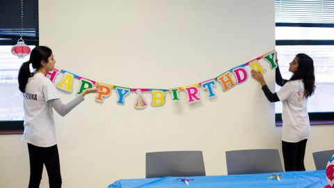 """Sonika Menon, 15, throws birthday parties for perfect strangers. Her nonprofit, <a href=""""https://birthdaygivingprogram.club/"""" target=""""_blank"""" target=""""_blank"""">The Birthday Giving Project</a>, provides a large cake and birthday bag, complete with all the party supplies for a community celebration for those who lack the means to celebrate. Recipients include children and teens, people with disabilities and senior citizens."""