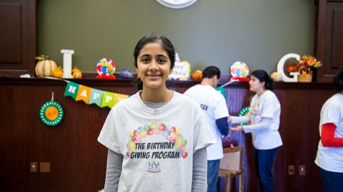"""Sonika partners with shelters and organizations in the Plainfield, Illinois, area such as the Boys and Girls Club to identify recipients. """"It's important to know that even when you're facing hardship that people are always gonna be there for you and that they love you for who you are,"""" Sonika says."""