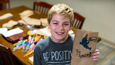 """Liam Hannon, 11, makes and distributes homemade lunches from a wagon, with the help of family and friends. What started as a way to stay busy during his summer break has turned into <a href=""""https://www.liamslove.com/"""" target=""""_blank"""" target=""""_blank"""">Liam's Lunches of Love</a>, a movement to help the homeless and hungry of Cambridge, Massachusetts."""