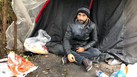 Ahmed, Iranian migrant in France planning to cross the English Channel
