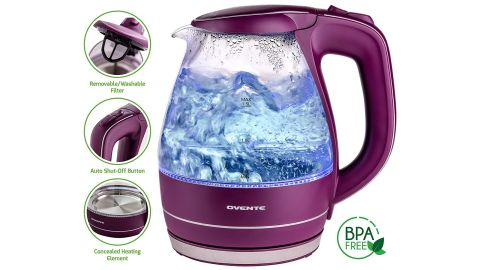 """<strong>Ovente 1.5L BPA-Free Glass Electric Kettle ($24.99; </strong><a href=""""https://amzn.to/2LfTd2A"""" target=""""_blank"""" target=""""_blank""""><strong>amazon.com</strong></a><strong>)</strong>"""