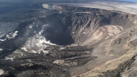 August 2, 2018 - Kilauea / Oahu, Hawaii, United States: Kilauea's summit remains quiet following the most recent collapse event at 11:55 a.m. HST. This quiet is a significant departure from the pattern of episodic seismicity and continuous deformation over the past several months, with very low rates of seismicity continuing today. Deformation at the summit as measured by tiltmeter and GPS instruments slowed and virtually stopped between Aug. 4 and 5. This view of Halema'uma'u is toward the southeast. The Kilauea volcano has been highly active for the past three months, forging a path of destruction and upending the lives of Hawaii's residents. Homes have been decimated by lava flowing across the island, while the summit of the volcano has continued to change. It is one of five volcanoes on the Big Island and is one of the world's most active volcanoes. The current eruption started on May 4.