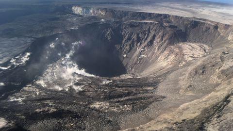 Kilauea's quiet summit, seen here on August 2.