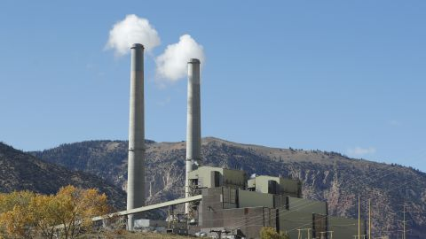 HUNTINGTON, UT - OCTOBER  9: Emissions rise from smoke stacks at Pacificorp's 1000 megawatt coal fired power plant on October 9, 2017 outside Huntington, Utah.  It was announced today that the Trump administration's EPA will repeal the Clean Power Plan, that was put in place by the Obama administration.  (Photo by George Frey/Getty Images)
