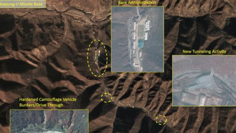 Credit: Middlebury Institute of International Studies at Monterey. Photos from the Middlebury Institute taken in October/November 2018 reveal North Korea has significantly expanded a key long-range missile base.