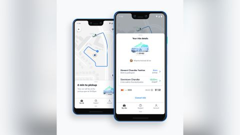 Riders will use an Uber-like smartphone app.