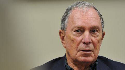 Former New York City Mayor Michael Bloomberg meets with local business owners and local activists after he toured the Paulson Electric Company on December 4, 2018 in Cedar Rapids, Iowa.