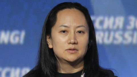 epa07211367 (FILE) - Meng Wanzhou, Chief Financial Officer of Huawei, attends the VTB Capital's 'RUSSIA CALLING' investment forum in Moscow, Russia, 02 October 2014 (reissued 06 December 2018). Meng Wanzhou has been arrested in Canada at the request of US authorities. According to US media reports, Meng Wanzhou was detained for potential US sanction violations.  EPA-EFE/MAXIM SHIPENKOV