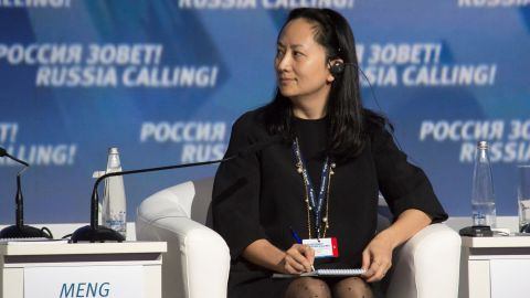 """Meng Wanzhou, Executive Board Director of the Chinese technology giant Huawei, attends a session of the VTB Capital Investment Forum """"Russia Calling!"""" in Moscow, Russia October 2, 2014. Picture taken October 2, 2014. REUTERS/Alexander Bibik"""