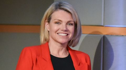 US State Department spokesperson Heather Nauert arrives for the release of the 2017 Annual Report on International Religious Freedom on May 29, 2018, in the Press Briefing Room at the US Department of State in Washington, DC. (Photo by Mandel Ngan / AFP)        (Photo credit should read MANDEL NGAN/AFP/Getty Images)
