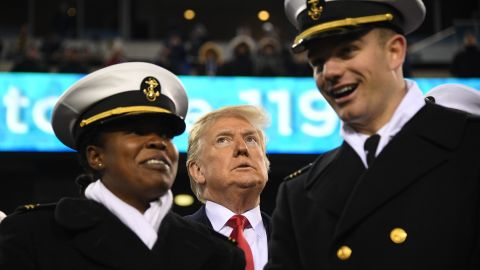 US President Donald Trump attends the annual Army-Navy football game.