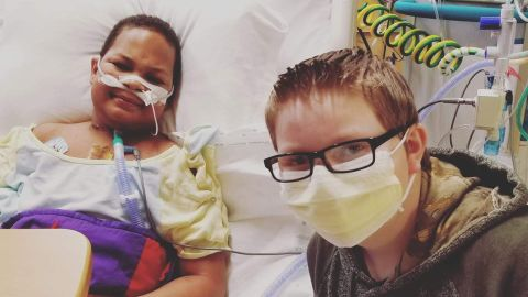 K.J. Gross and his best friend Kaleb Klakulak spent many weeks together in the hospital.