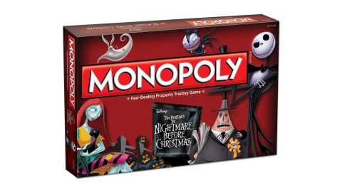 """<strong>Monopoly Tim Burton's The Nightmare Before Christmas Board Game ($53; </strong><a href=""""https://amzn.to/2QqRHAx"""" target=""""_blank"""" target=""""_blank""""><strong>amazon.com</strong></a><strong>)</strong>"""
