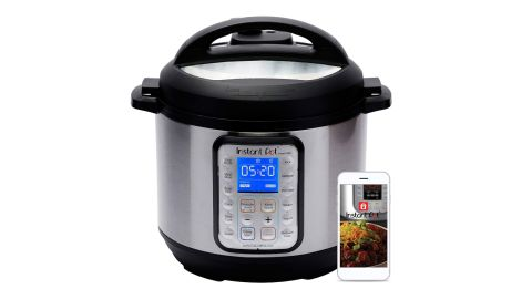 """<strong>Instant Pot Smart WiFi 6 Quart Electric Pressure Cooker ($90, originally $149; </strong><a href=""""https://amzn.to/2LaaWrV"""" target=""""_blank"""" target=""""_blank""""><strong>amazon.com</strong></a><strong>) </strong>"""