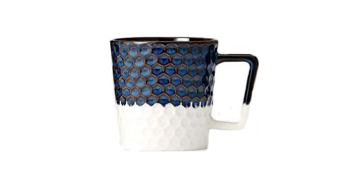 """<strong>Siren Scales Anniversary Collection Navy Blue and White Ceramic Mug ($47.83; </strong><a href=""""https://amzn.to/2EmZOrj"""" target=""""_blank"""" target=""""_blank""""><strong>amazon.com</strong></a><strong>)</strong>"""