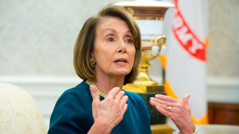 """Despite the disadvantage of her soft seat, Pelosi sat ramrod straight, projecting strength right back at Trump. When Trump said, """"Nancy is in a situation where it's not easy for her to talk right now, and I understand that,"""" referring to her upcoming leadership election, Pelosi pushed back. """"Mr. President, please don't characterize the strength that I bring to this meeting as the leader of the House Democrats who just won a big victory,"""" she shot back at him."""