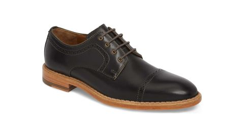 """<strong>Fashionable gifts for dad: The dress shoe</strong><br />J&M 1850  Chambliss Cap Toe Derby ($118.80, originally $198; <a href=""""https://click.linksynergy.com/deeplink?id=Fr/49/7rhGg&mid=1237&u1=1211mensfashiongifts&murl=https%3A%2F%2Fshop.nordstrom.com%2Fs%2Fjm-1850-chambliss-cap-toe-derby-men%2F5198078%3Forigin%3Dcategory-personalizedsort%26color%3Dblack%2520leather"""" target=""""_blank"""" target=""""_blank"""">nordstrom.com</a>)"""