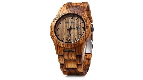 """<strong>Fashionable gifts for dad: The watch</strong><br />Bewell W086B Mens Wooden Watch ($29.99; <a href=""""https://amzn.to/2S7AicE"""" target=""""_blank"""" target=""""_blank"""">amazon.com</a>)<br />"""