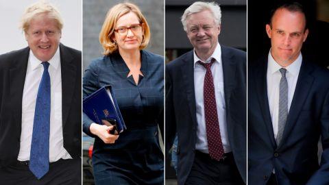 Tory leadership contenders: Boris Johnson, Amber Rudd, David Davis, Dominic Raab