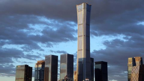 China Zun, the tallest building to complete in 2018, according to the Council of Tall Buildings and Urban Habitat (CTBUH).