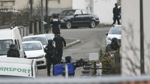 French authorities hunt the gunman Thursday in Strasbourg. He was killed in a shootout with police.