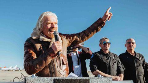 Richard Branson celebrates first Spaceflight