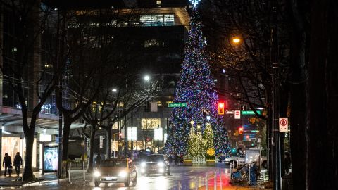 A Christmas tree in Vancouver.