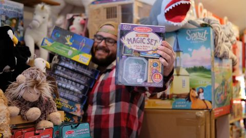 Lucas Burnley held a fundraiser and purchased $45,000 worth of toys to replace gifts thieves stole from a church.