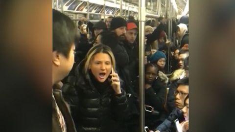lady nyc subway